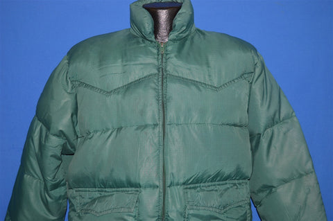 70s Ski Daddle Green Puffy Ski Jacket Large