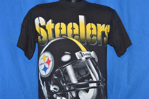 90s Pittsburgh Steelers Football Helmet NFL t-shirt Medium