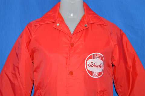 70s Schaefer Beer Windbreaker Jacket Youth Large