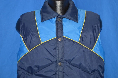 80s Sigallo Blue Nylon Ski Vest Medium