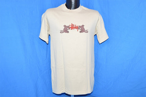 90s Stussy Rat Pack Surfing Two Sided Tan t-shirt Small