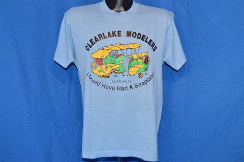 90s Clearlake Modelers I Could've Had a Seaplane t-shirt Medium