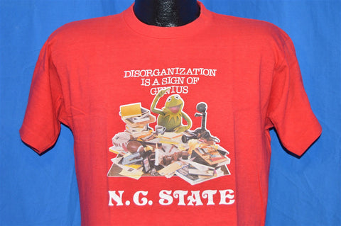 80s NC State Kermit the Frog  Genius College Humor t-shirt Large