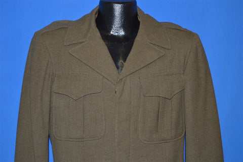 40s WWII Eisenhower Officer Wool Jacket Size 36