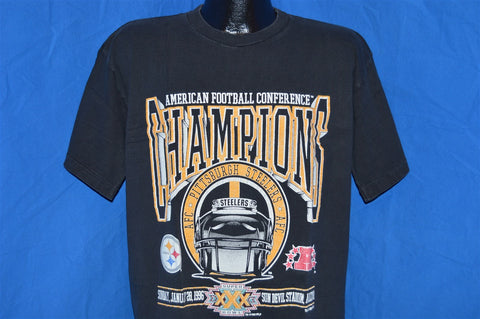 90s Pittsburgh Steelers 1995-96 AFC Champions t-shirt Large