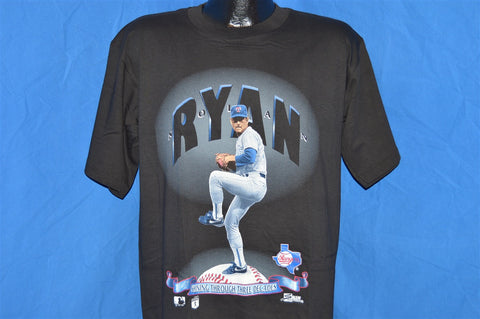 90s Nolan Ryan Shining Through Three Decades Texas Rangers t-shirt Large