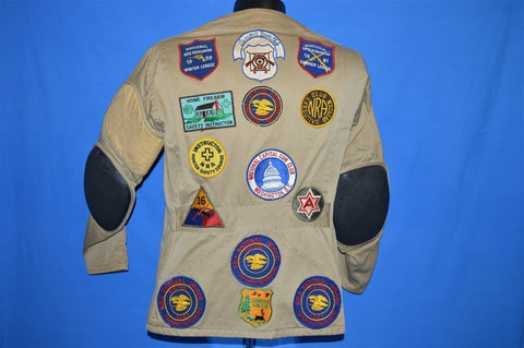 50s NRA Shooting Gun Club Patches Hunting Jacket Medium