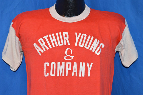 60s Arthur Young & Company Rayon Jersey t-shirt Medium