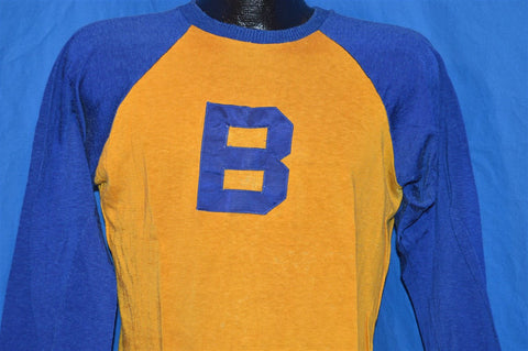 50s MacGregor Yellow Blue Baseball Jersey t-shirt Medium
