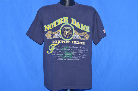90s Notre Dame Fightin' Irish Embroidered t-shirt Large