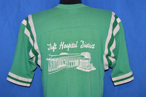 80s Taft Hospital District Striped t-shirt Medium