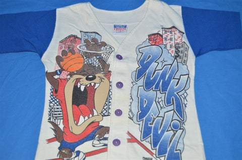 90s Looney Tunes Taz Dunk Devil Jersey t-shirt Youth Small