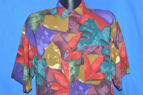 90s Floral Hip Hop Button Down Shirt Medium