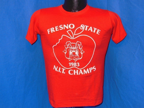 80s Fresno State University Bulldogs Champs t-shirt Youth Large