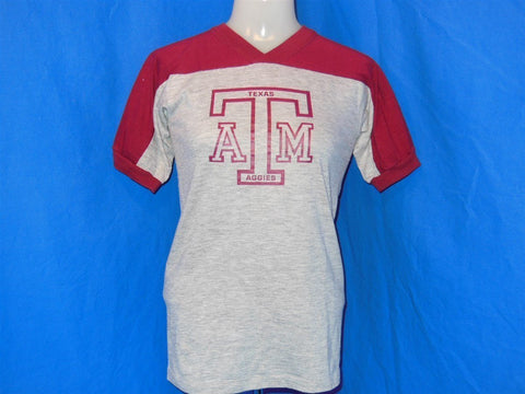 80s Texas A&M Aggies V-Neck Jersey Style t-shirt Youth Large