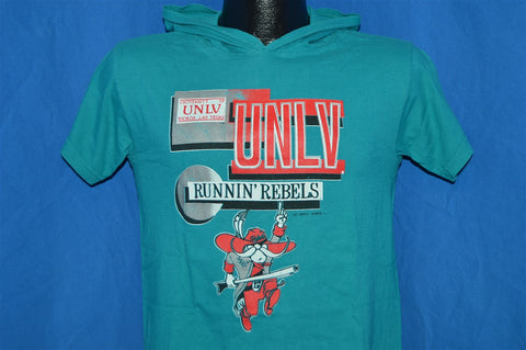 90s UNLV Runnin' Rebels Hooded t-shirt Youth Medium