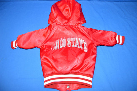 80s Ohio State University Buckeyes Satin Jacket 12 Months