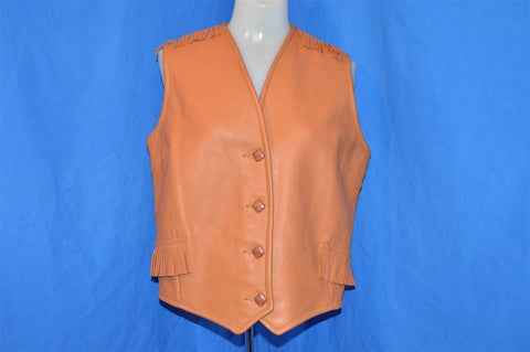 70s Faux Leather Fringe Vest Women's Medium