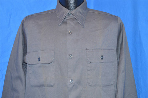 60s Big Yank Gray Khaki Work Shirt Medium
