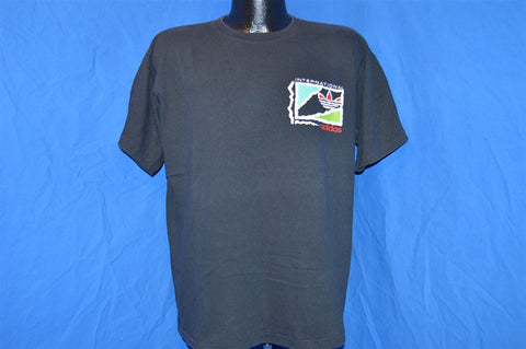 80s Adidas International Trefoil Puffy Paint t-shirt Large