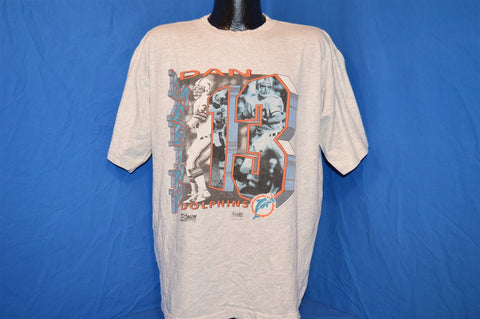 90s Miami Dolphins Dan Marino #13 Heathered Gray t-shirt Extra-Large