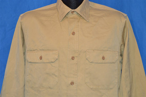 50s Big Mac Khaki Work Shirt Large