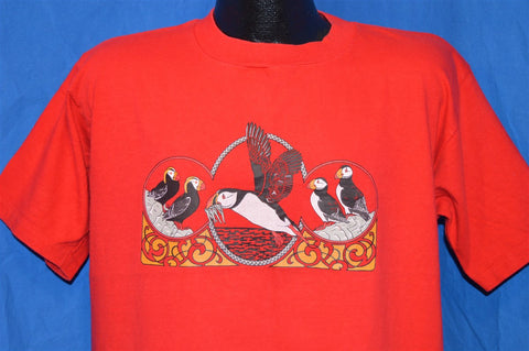 90s Puffin Birds of Antarctica t-shirt Large