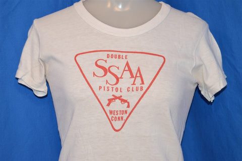 60s SSAA Double Pistol Club Weston Connecticut Guns t-shirt Youth Medium