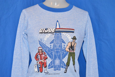 80s GI Joe Sgt Slaughter Lifeline Poly Pajama Top Long Sleeve Ringer t-shirt Youth Small 8 - 10