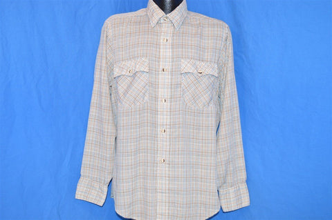 80s Levi's 1980 Olympic Games  Plaid Button Down Shirt Large