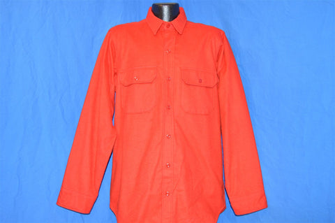 80s Woolrich Red Flannel Camping Button Down Shirt Large