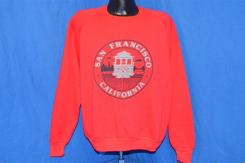 80s San Francisco Cable Car Sweatshirt Extra-Large