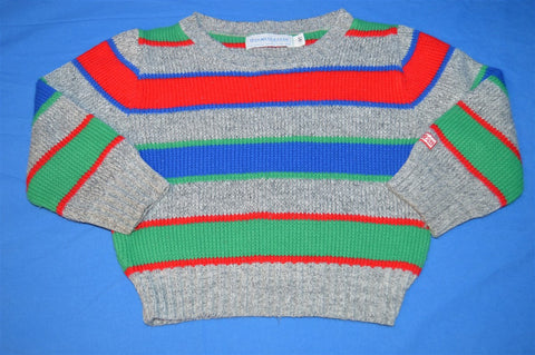 80s Osh Kosh B'Gosh Gray Multi Stripe Sweater Youth 4T