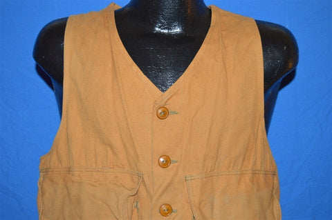 50s Clearfield Brown Cotton Hunting Vest Medium