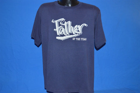 80s Father of the Year Navy Blue t-shirt Large