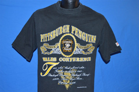 90s Pittsburgh Penguins Wales Conference Hockey t-shirt Medium