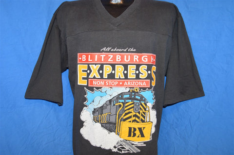 90s Pittsburgh Steelers Super Bowl XXX Blitzburgh Train Football Jersey t-shirt Large