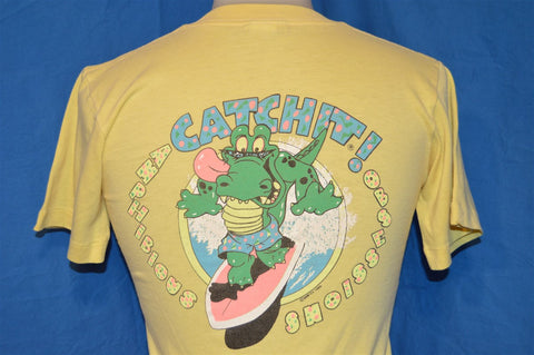 80s Catchit Surfing Alligator Amphibious Obsession t-shirt Youth Large / Extra-Small