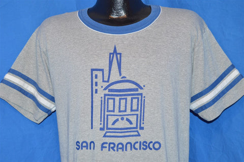 80s San Francisco Cable Car Ringer Jersey t-shirt Large