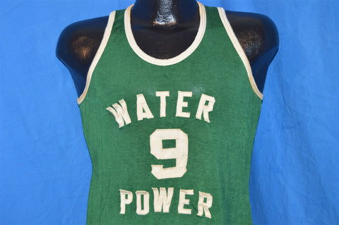 50s Water Power Green Basketball Jersey t-shirt Small
