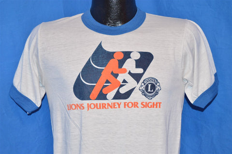 80s Lions Journey for Sight Ringer t-shirt Small