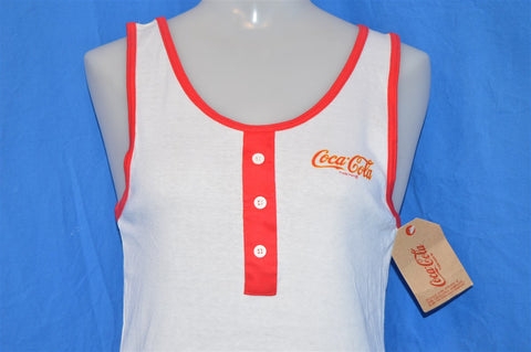 80s Coca-Cola White Deadstock Tank Top t-shirt Small