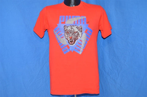 80s Puma Panther Logo Red t-shirt Small