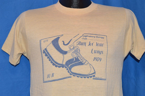 70s Run For Your Lungs 1979 t-shirt Small