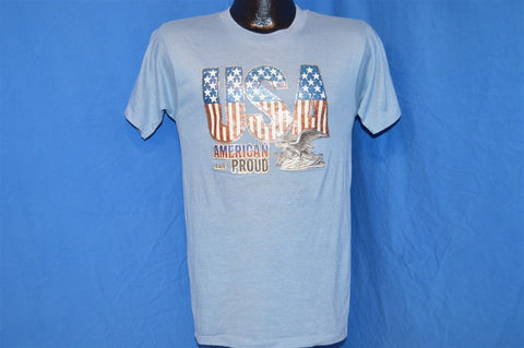 70s USA American and Proud Iron On t-shirt Small