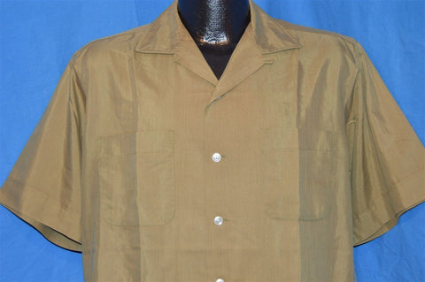 50s McGregor Brown Button Down Shirt Large
