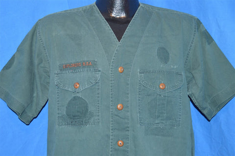 50s Boy Scouts of America Explorers Uniform Shirt Large