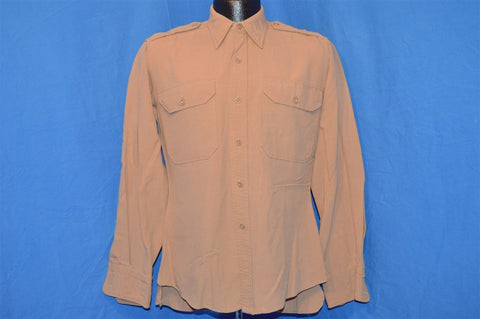 40s Conqueror WWII Rayon Officer's Shirt Small