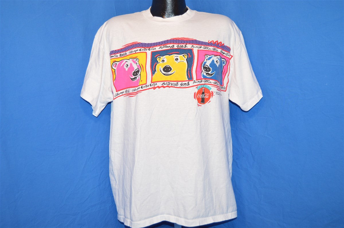 90s coca cola polar bears puffy paint t shirt large the Puffy paint shirt designs
