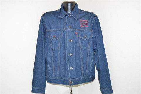 80s Levis Denim Kenny Loggins Vox Humana Tour Jacket Large